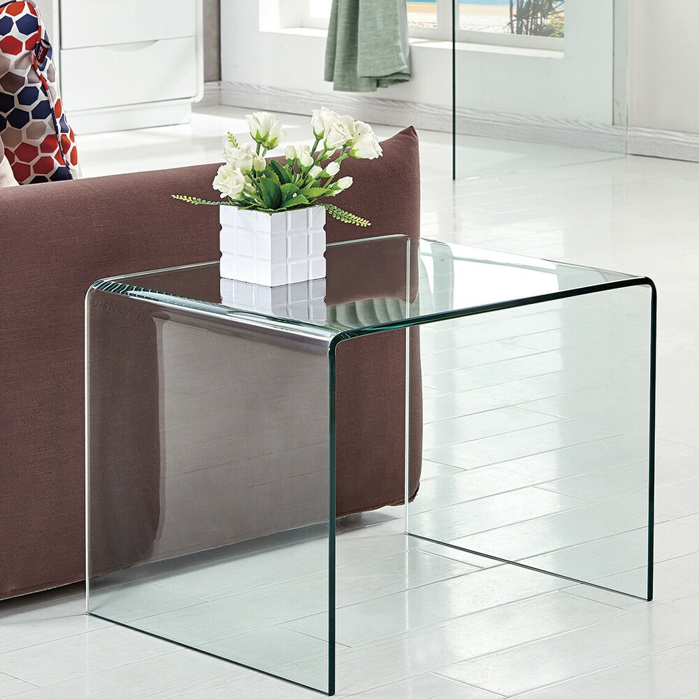 modern sofa side end table narrow snack couch glass coffee details about big dog cage occasional with drawer small refrigerators chocolate brown lazy boy swivel recliner chairs
