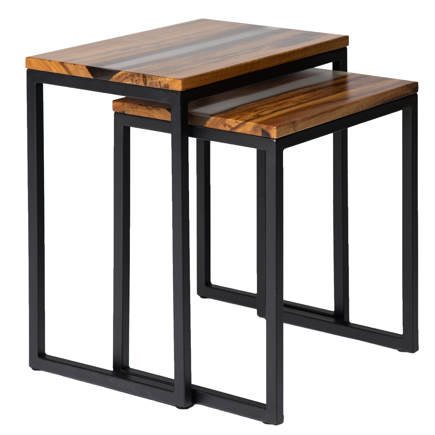 modern solid wood nesting table contemporary black end tables square for white bedroom nightstand ashley furniture marble top coffee bedside lamp size brown leather sofa lounge