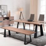 modern walnut and glass dining table black mate legs houston leg corey colgne high end sets with chairs furniture setting drawing room small plastic outdoor leon accent royal 150x150