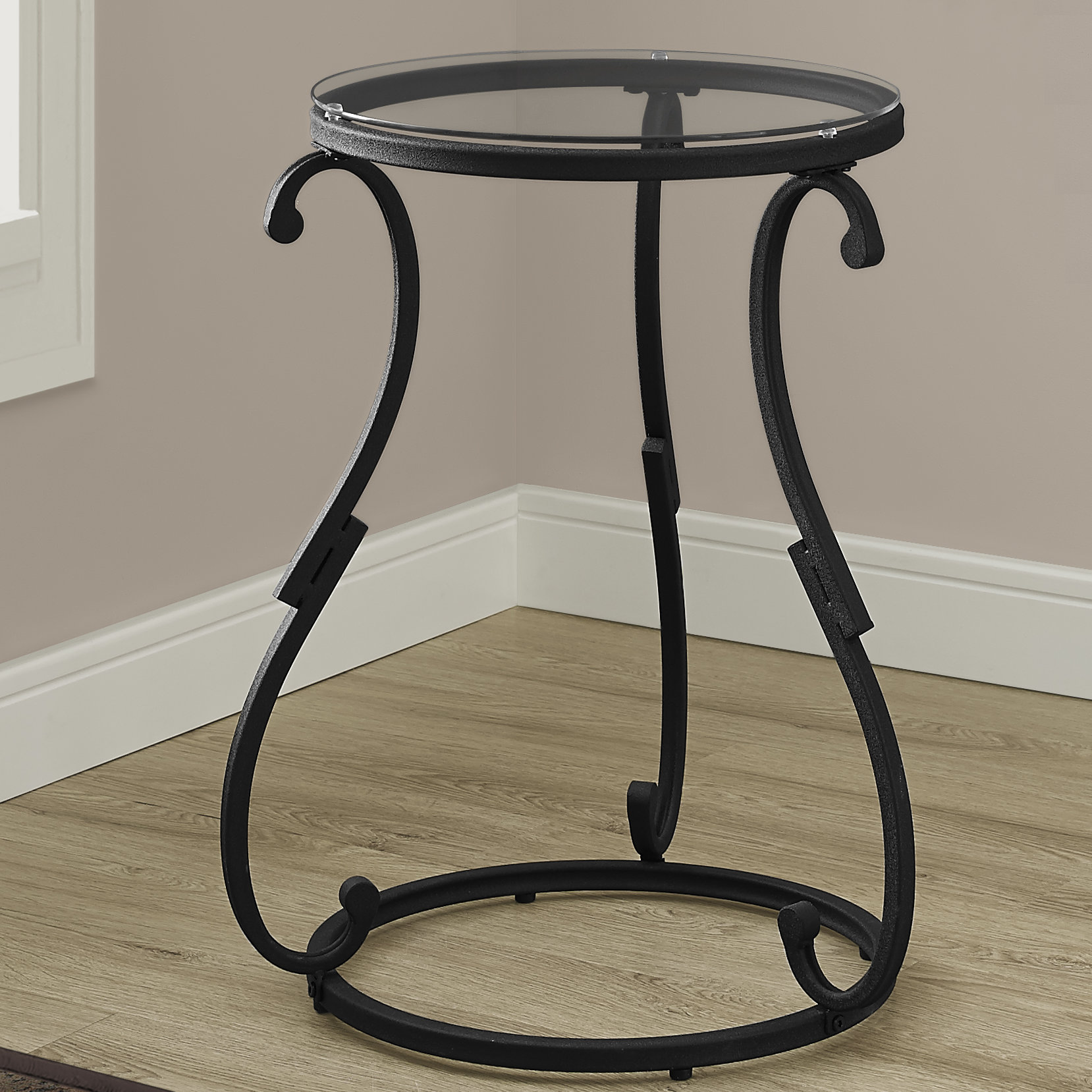monarch specialties inc hammered black metal end table reviews with glass top golden oak furniture mfg oval shape wood legs pipe stool rustic french country coffee west elm desk
