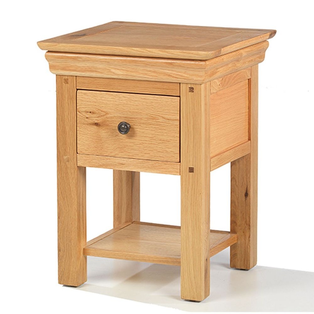 montreal solid oak furniture small side end lamp table with drawer tables details about sauder dresser bookshelf nightstand cylindrical bedside kmart coffee aztec calendar stone