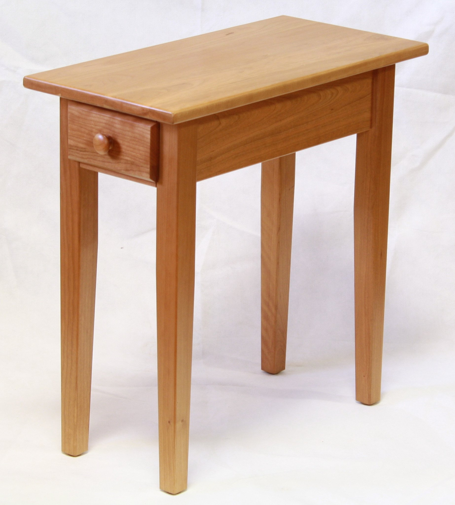 narrow cherry shaker chairside end table with drawer for smaller dimensions occasional tables endicott home furnishings quality living room furniture small bedside budget inch