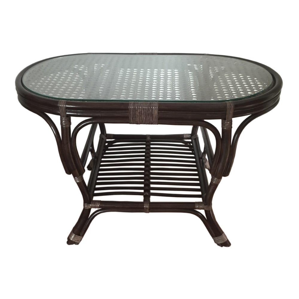 natural rattan wicker handmade coffee table alisa glass top oval color mat dark brown home furniture white end details about homesense london bedside lamps brent cross row outdoor