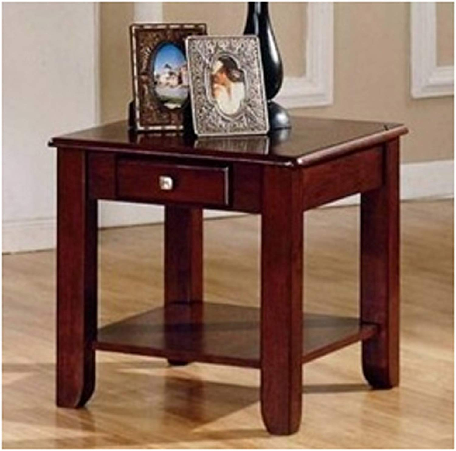 nelson wood cherry color end table drawer home kitchen tables with piece coffee and console pub dining room sets glass tops legends furniture sausalito ashley north shore round