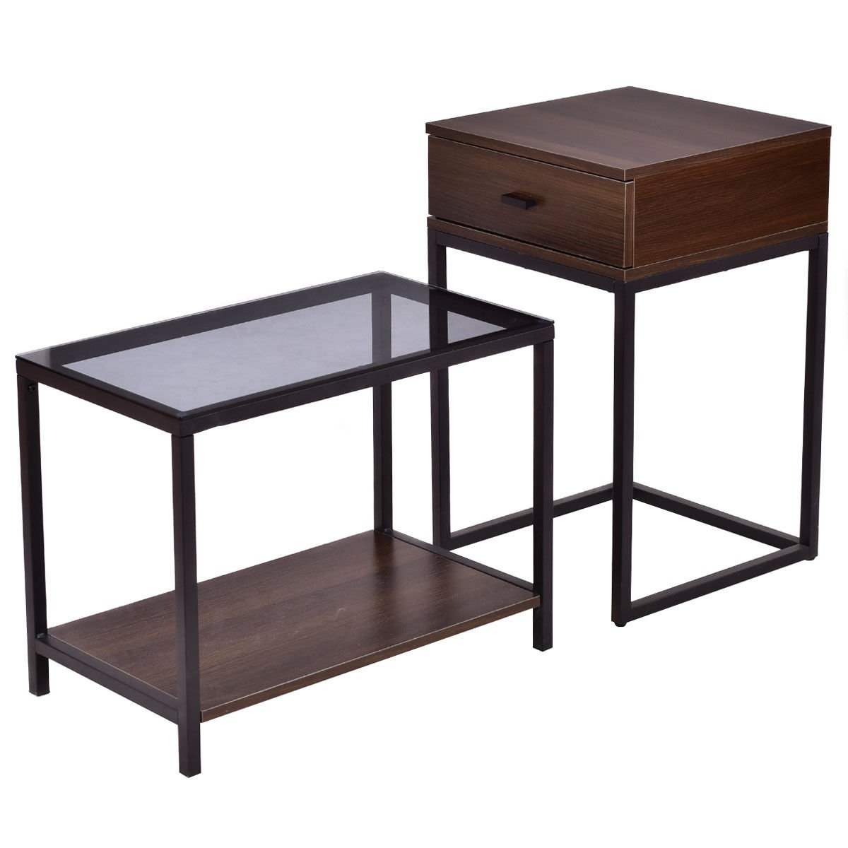 nesting table coffee side end used tables and metal frame wood glass topit consists two that can separately combined living room wall lights laura ashley armchairs sitting chairs