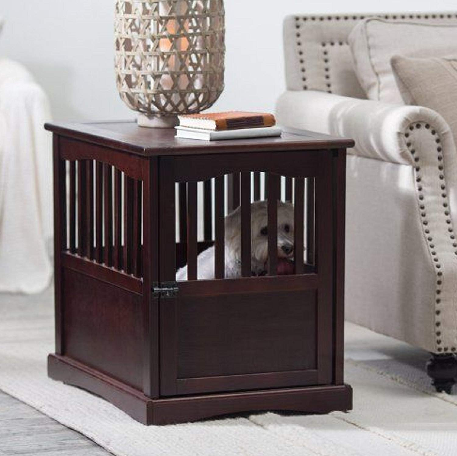 new wooden pet crate end table kennel cage furniture dog pen indoor house small supplies wood top for coffee laura ashley canopy ott beds dark tan leather sofa bright colored