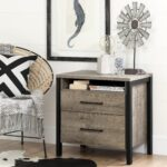 night stand table bedside end wood weathered oak drawer south shore munich laminate nightstan bedroom tables details about storage living room furniture spacing ethan allen 150x150