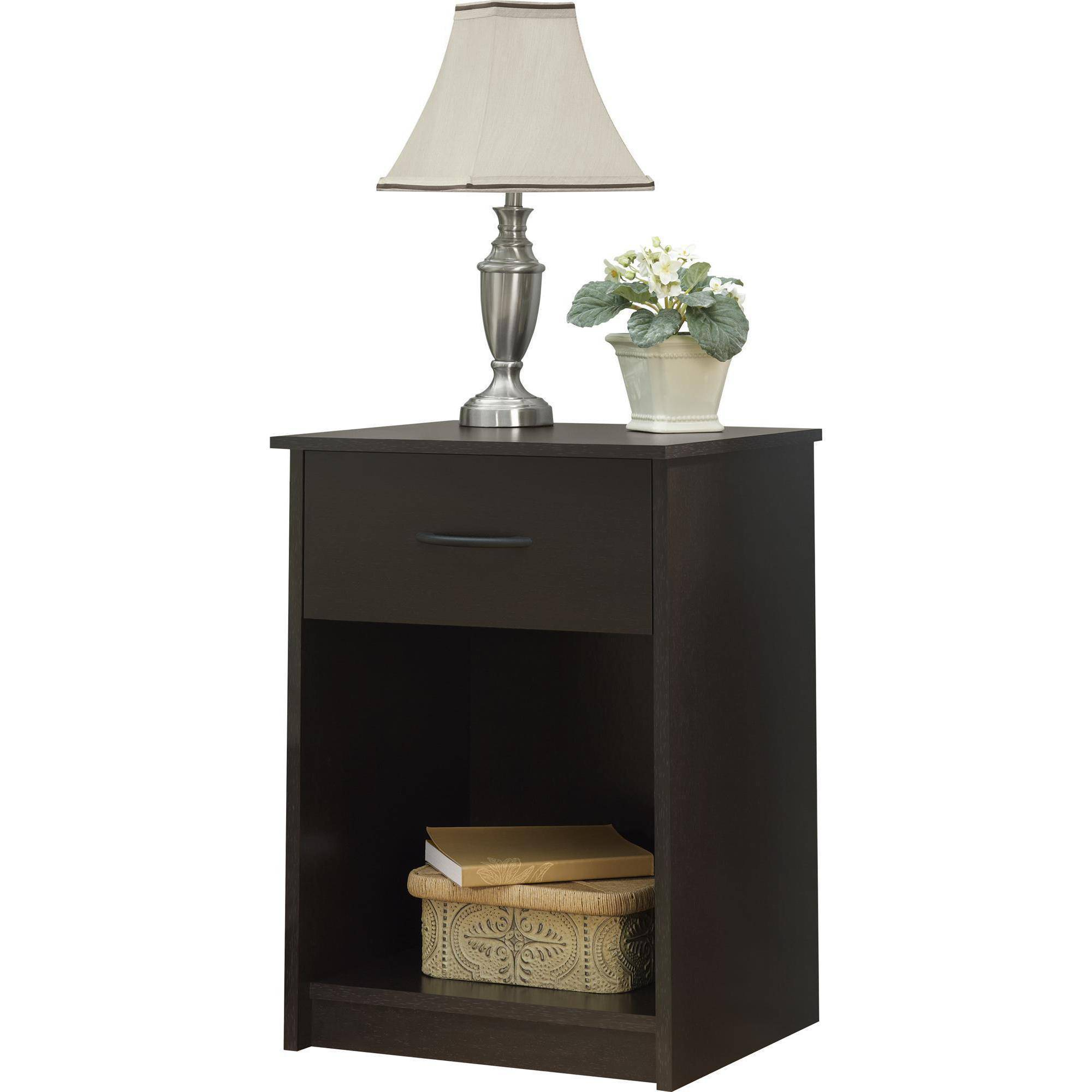 nightstand set bedroom end table drawer bedside shelf brown two tables espresso cinnamon mainstays furniture assembly instructions xlarge dog kennel crate replacement tempered