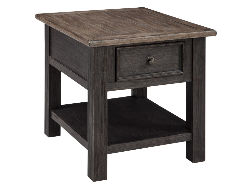 nolan antique black rectangular end table with drawer rotmans products signature design ashley color tables lexington armoire entertainment center amish dining and chairs