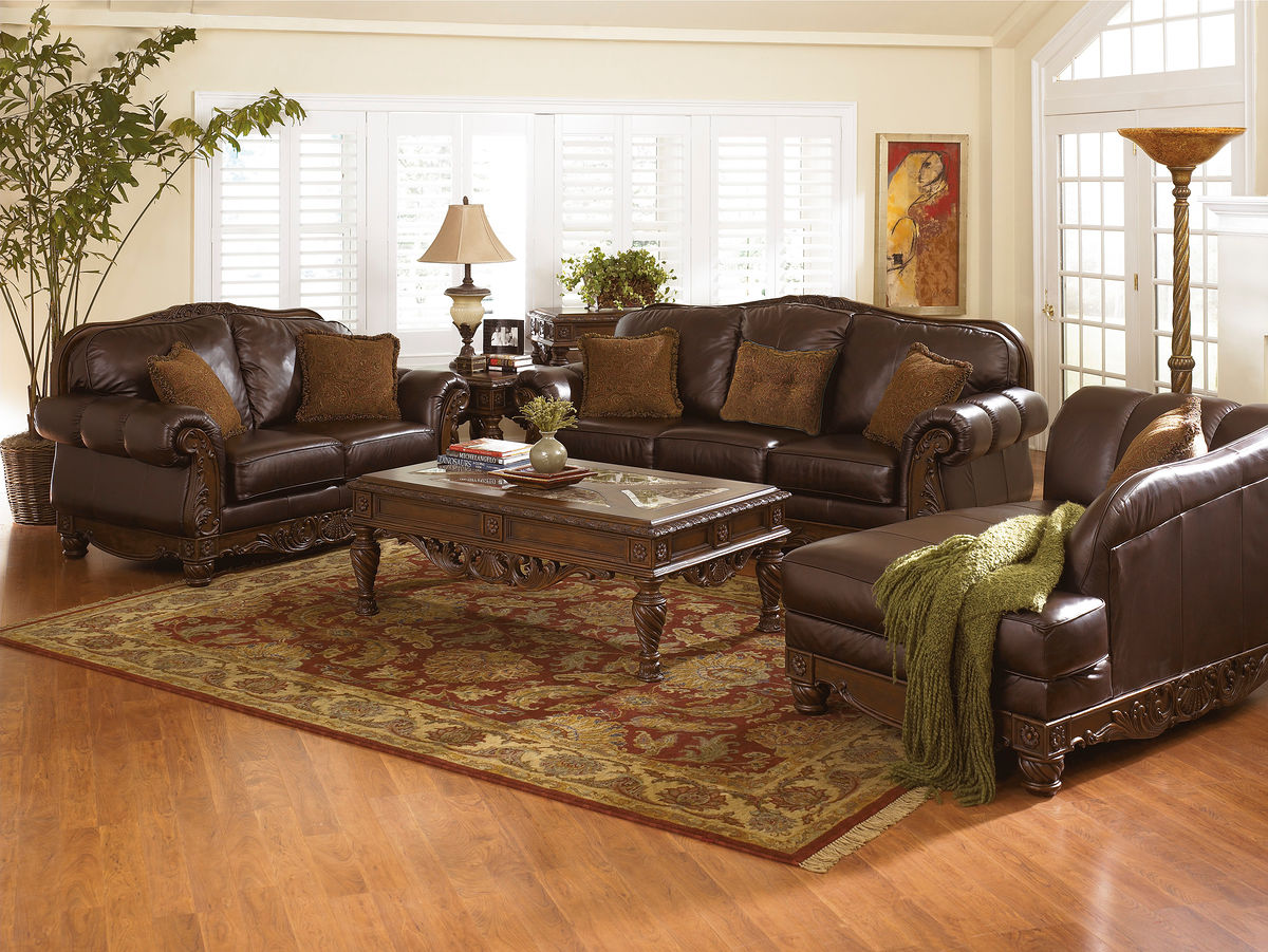 north shore dark brown sofa loveseat laf corner chaise end tables for couch cocktail table wood top side stanley furniture porch versa ethan allen sleeper leon clearance log