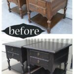 oak end tables distressed black before after home decor ethan allen from facelift furniture diy kennel can you paint over painted space between sofa and wall elana nesting set 150x150