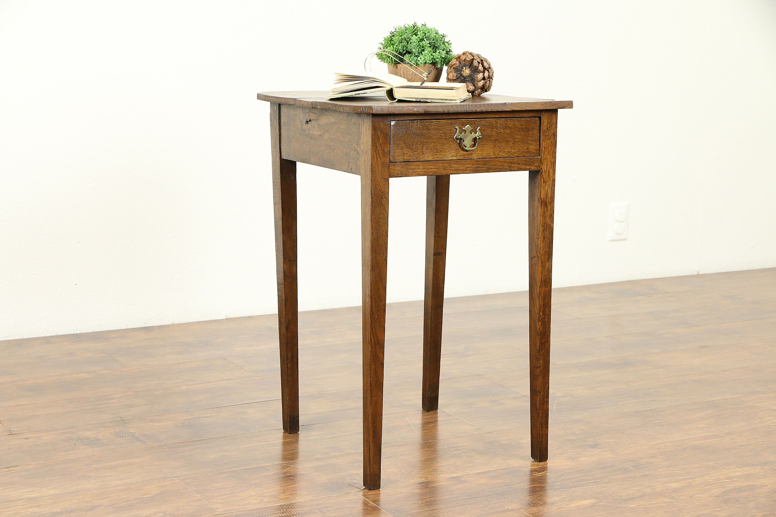 oak primitive antique nightstand lamp table bedroom end tables diy pipe leg dining small wedge elephant furniture creative dog beds grey wood and glass coffee animal cage laura