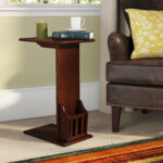 oak wedge end table gammons espresso finish quickview black magnussen rossington gold corner small round pedestal accent wicker cube side cast iron garden furniture decorating 150x150