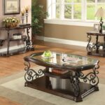 occasional group traditional coffee table with tempered glass top collections zaa tables and end set large side storage painted wood big living room sauder furniture milwaukee 150x150