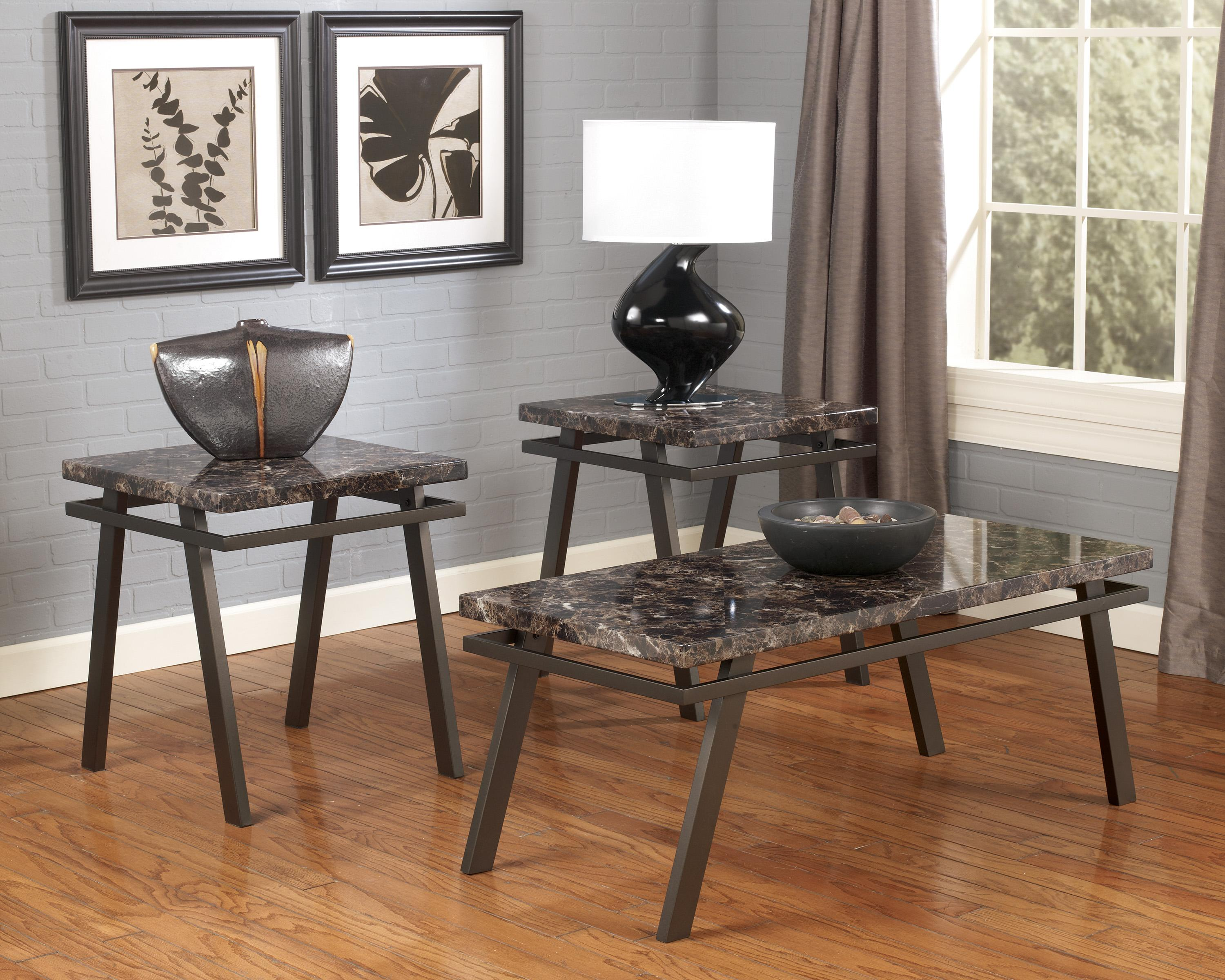 occasional table set with metal bases faux marble tops products signature design ashley color paintsville top end tables furniture rugs for dark brown patio coffee and side brass
