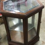 octagonal wood glass vitrine display case end table can you paint veneer furniture uttermost accent chest ashley off elephant zenfield whalen industrial kids universal home styles 150x150