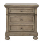 off ashley furniture lettner light gray two drawer nightstand bedroom end tables used black iron accent table bedside night ethan allen american impressions dining marsilona room 150x150