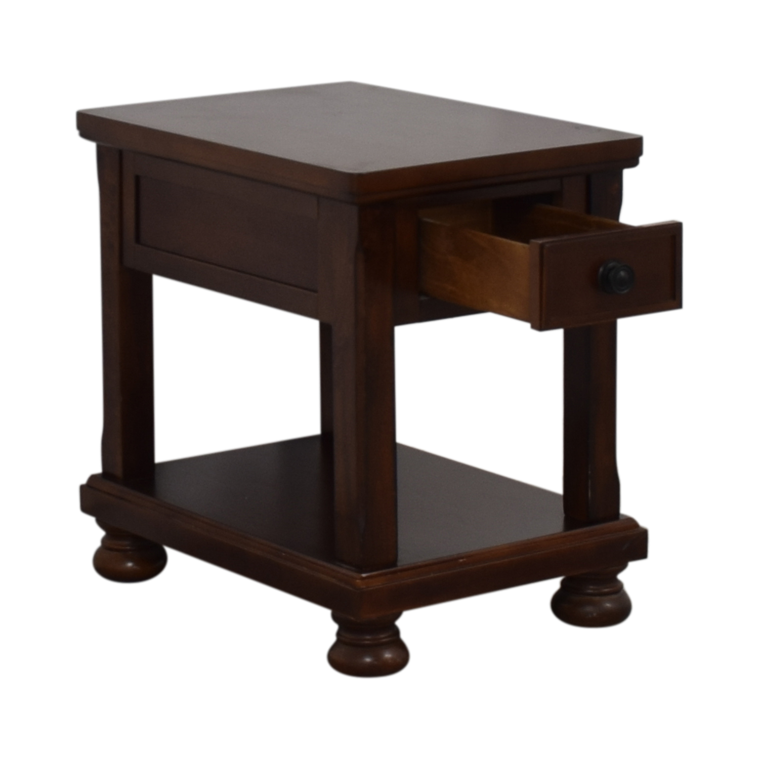 off ashley furniture porter single drawer end table tables metal side legs percent coupon dog crate stand with file console storage chocolate leather sofa white and black brooklyn