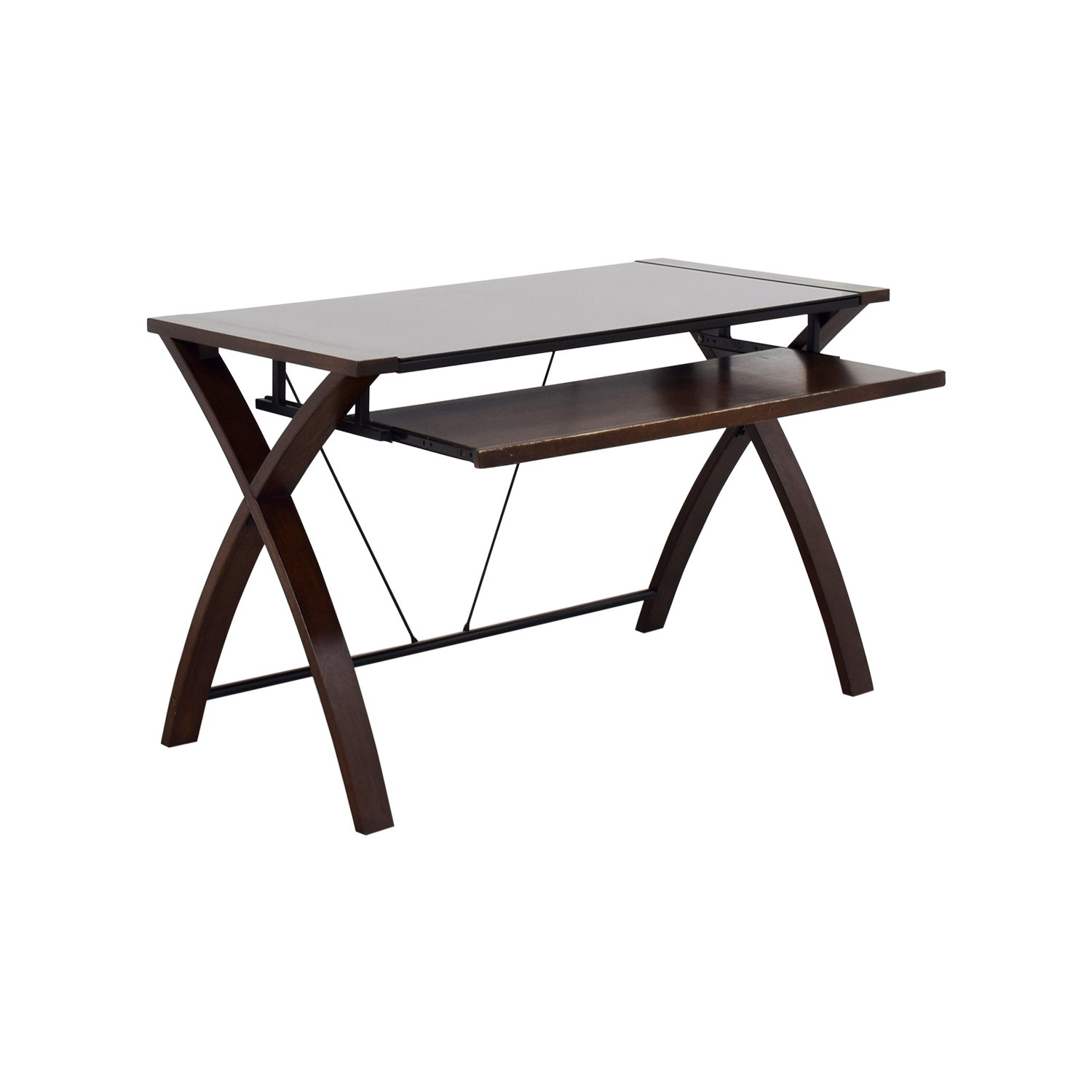 off computer shelf desk tables used furniture end second hand asian table small black metal garden home hardware patio rugs that match brown leather foot tic uttermost genell