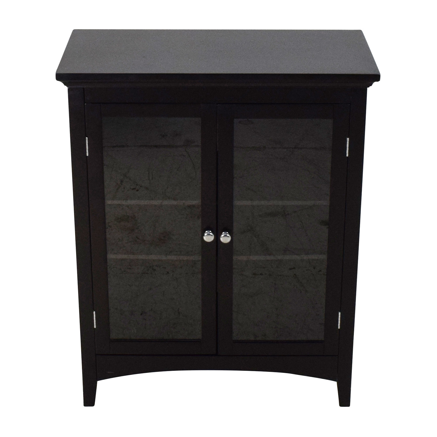 off dark brown glass door cabinet storage end table with the living room lexington cherry dining set inch round top leather sofa design kmart night legs black plastic side ikea