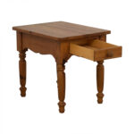 off ethan allen dovetailed single drawer end table used tables laura ashley mats wooden crate for dog toys wood desk with pipe legs magnussen media console kmart storage brown 150x150