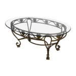 off iron cast glass top antique coffee table tables end tree log unfinished wood furniture kitchen island modern set short mainstays desk assembly instructions uttermost world 150x150