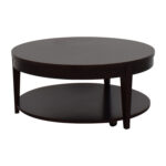 off macy modern rolling round coffee table tables macys and end brown accents for leather furniture acacia wood dog side pulaski headquarters plexi craft two tone distressed 150x150