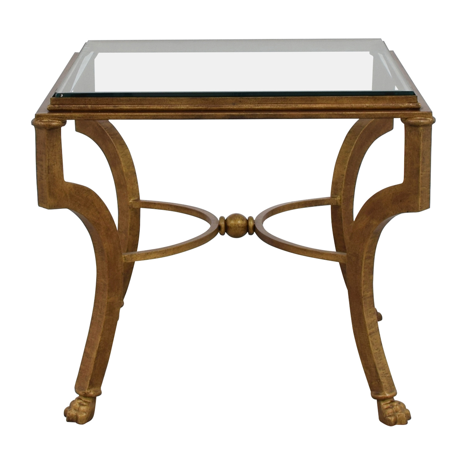 off square antique gold side table with glass top tables end log slice furniture mission style decorative for living room pottery barn leather coffee vintage small round marble