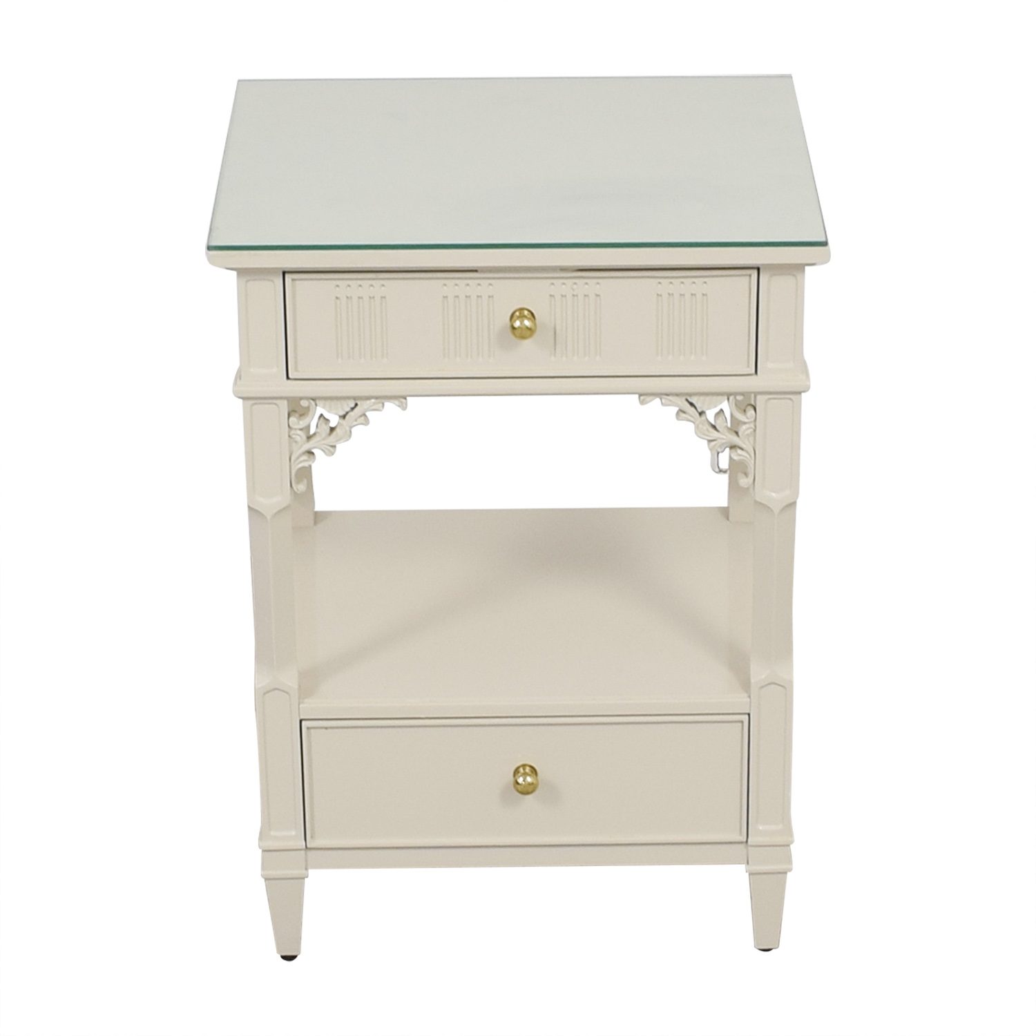 off stanley furniture white telephone side table used end tables second hand trundle inch console log cabinets glass occasional sets thomasville pecan bedroom rustic storage pet