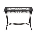 off target black metal and glass console table tables used end tall narrow coffee furniture san bernardino ashley kids distressed oak mainstays phone number royal head office 150x150