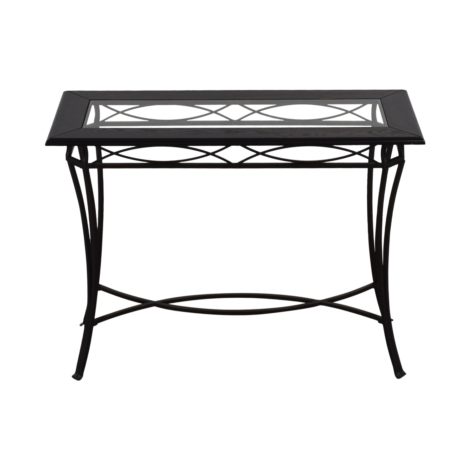 off target black metal and glass console table tables used end tall narrow coffee furniture san bernardino ashley kids distressed oak mainstays phone number royal head office