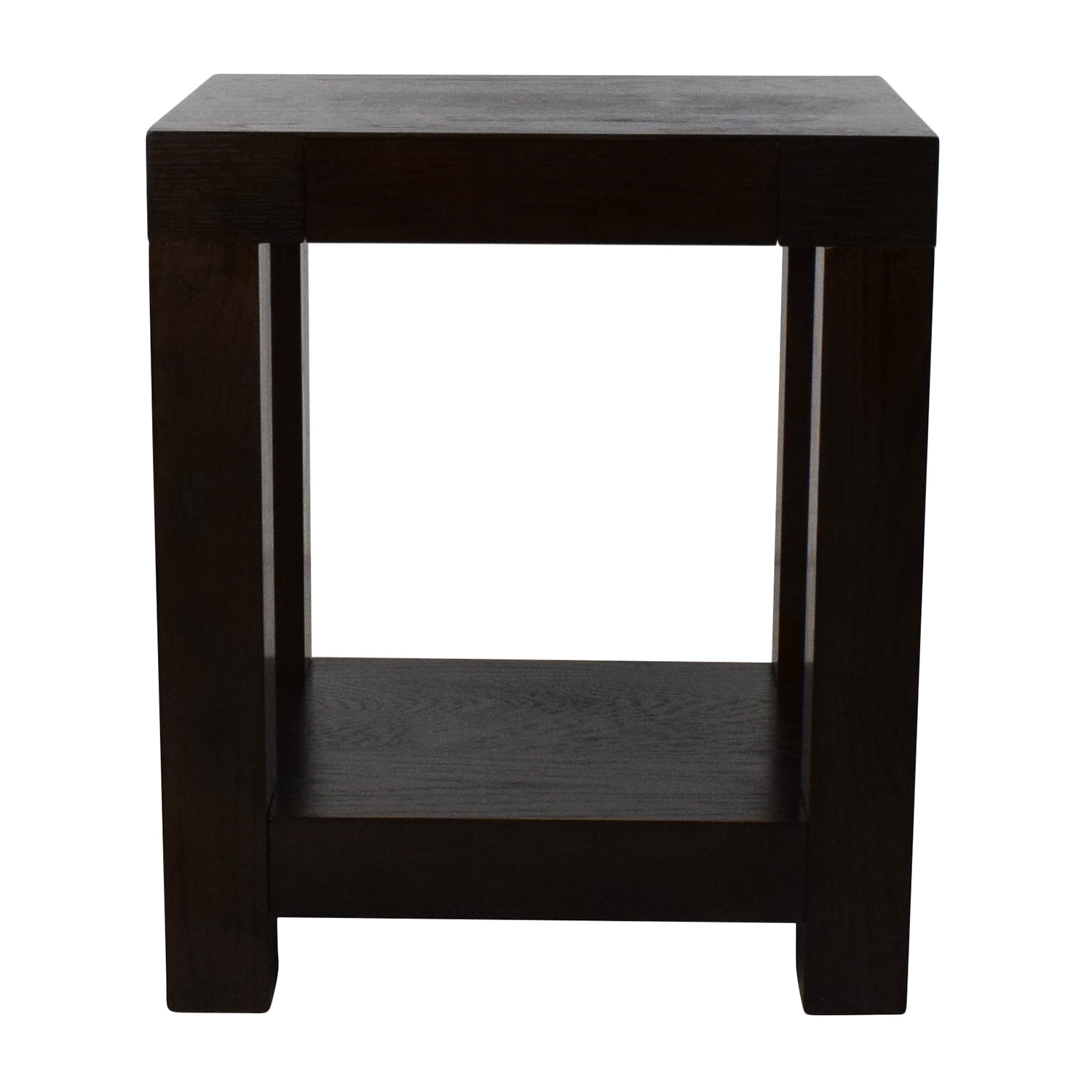 off west elm parsons end table tables second hand wood patio furniture made out pallets commercial dining mirrored circle magnolia jojo aluminum with umbrella hole rolling small