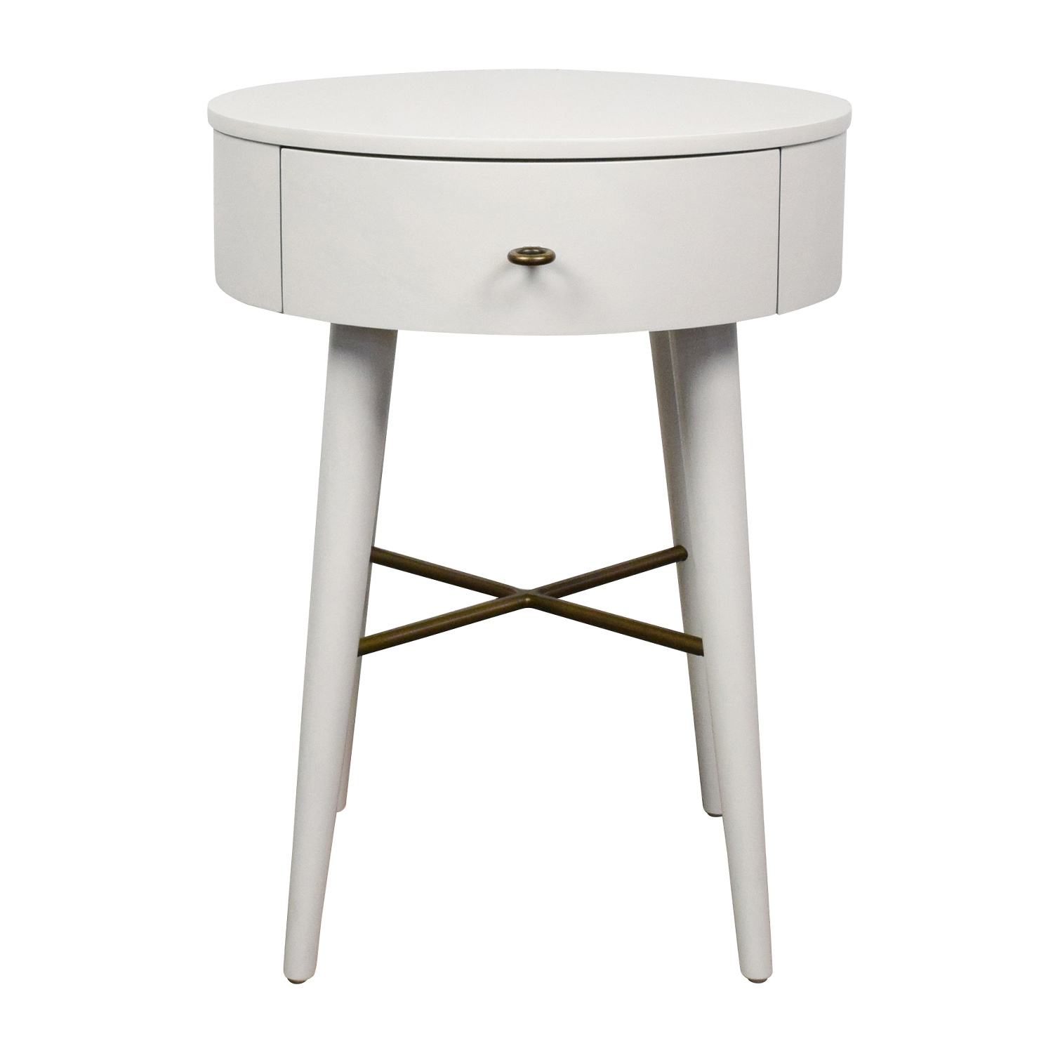 off west elm penelope white round nightstand tables bedroom end tall accent table industrial side asian console furniture lamps and floor when does laura ashley matching coffee