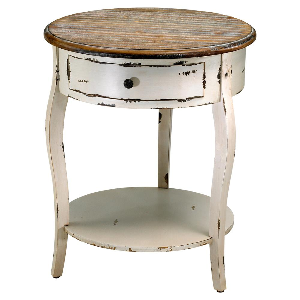olevi french rustic ivory round wood end table kathy kuo home product storage tables furniture ashley kitchen craigslist dining small triangle inch square pulaski accents with