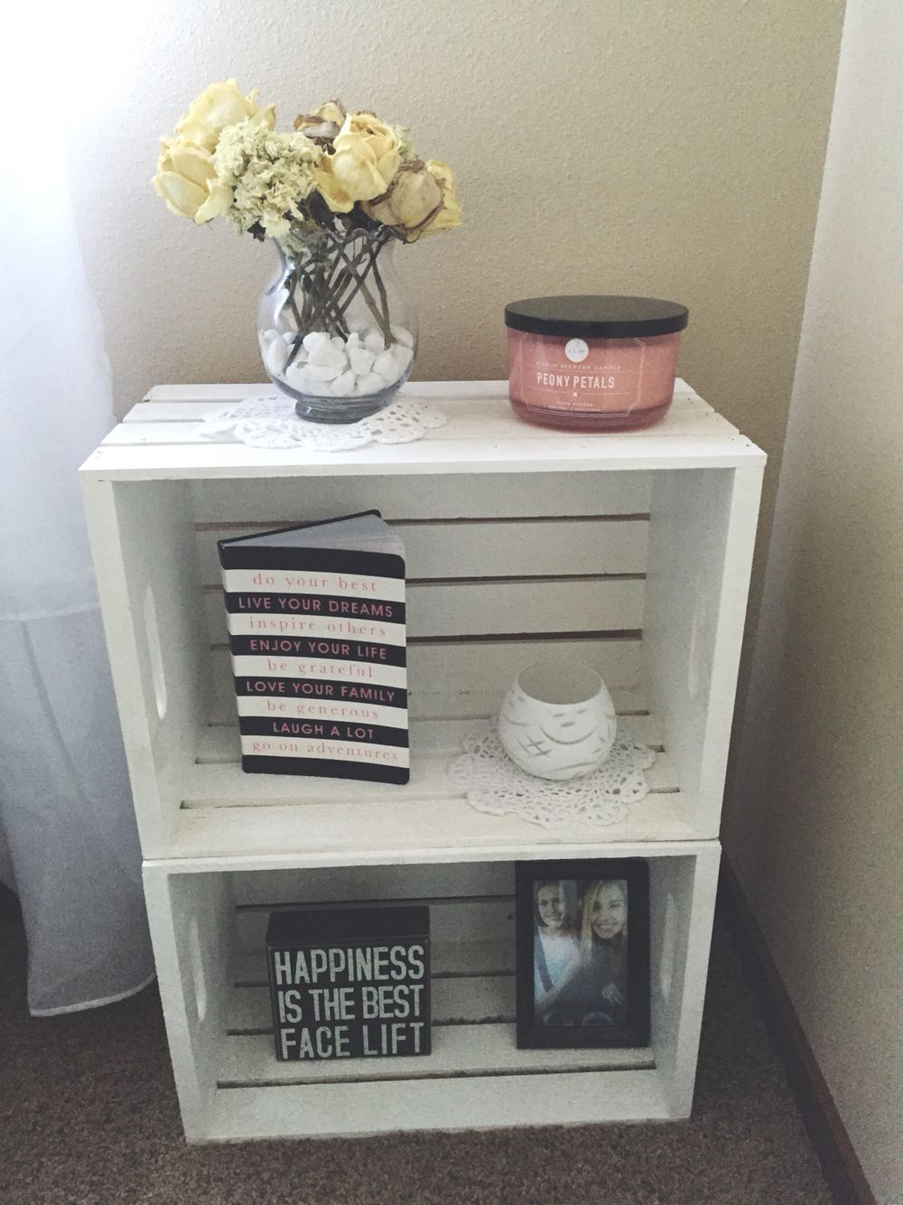 one nightstand next diy crates from michaels for the bedroom end tables big lots furniture sofa beds unfinished parsons desk ethan allen preston target kitchen table sets