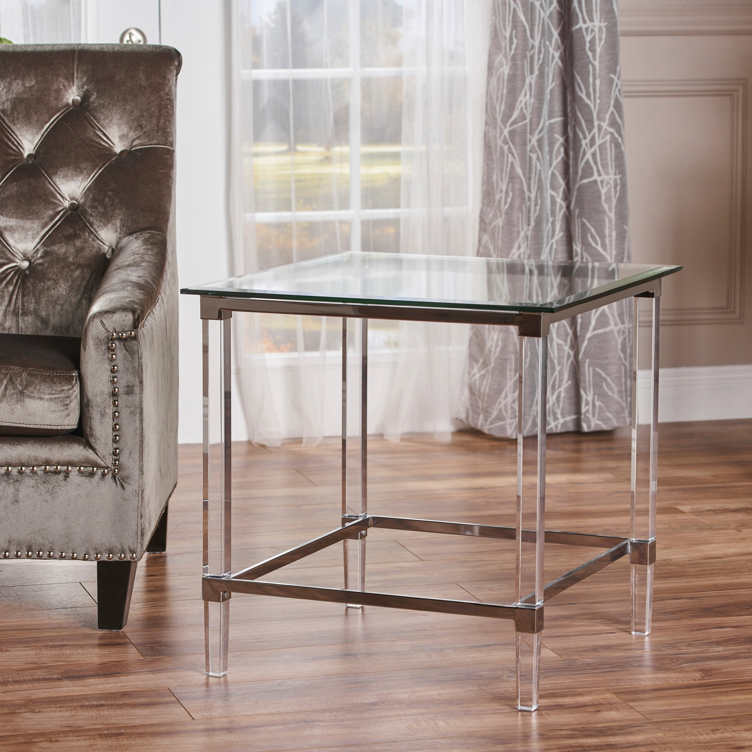 orianna square glass end table christopher knight home outdoor patio swing victorian nightstand console furniture toronto wooden coffee with stools underneath universal limited