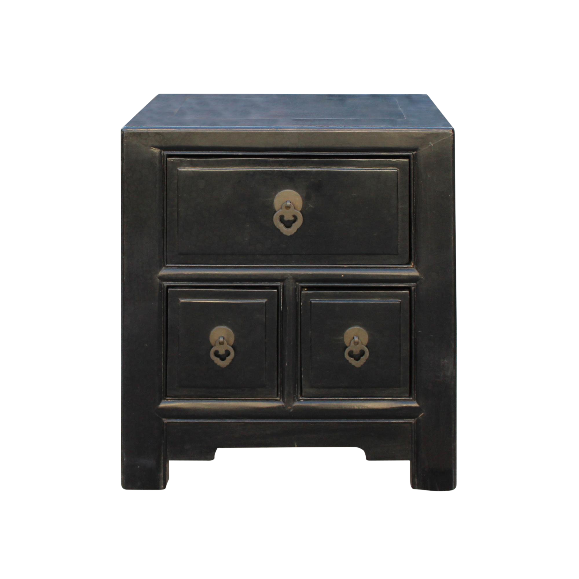 oriental distressed black drawers end table nightstand chairish round rattan coffee with stools tables brisbane sofa eating clearance patio furniture sets stone living room iron