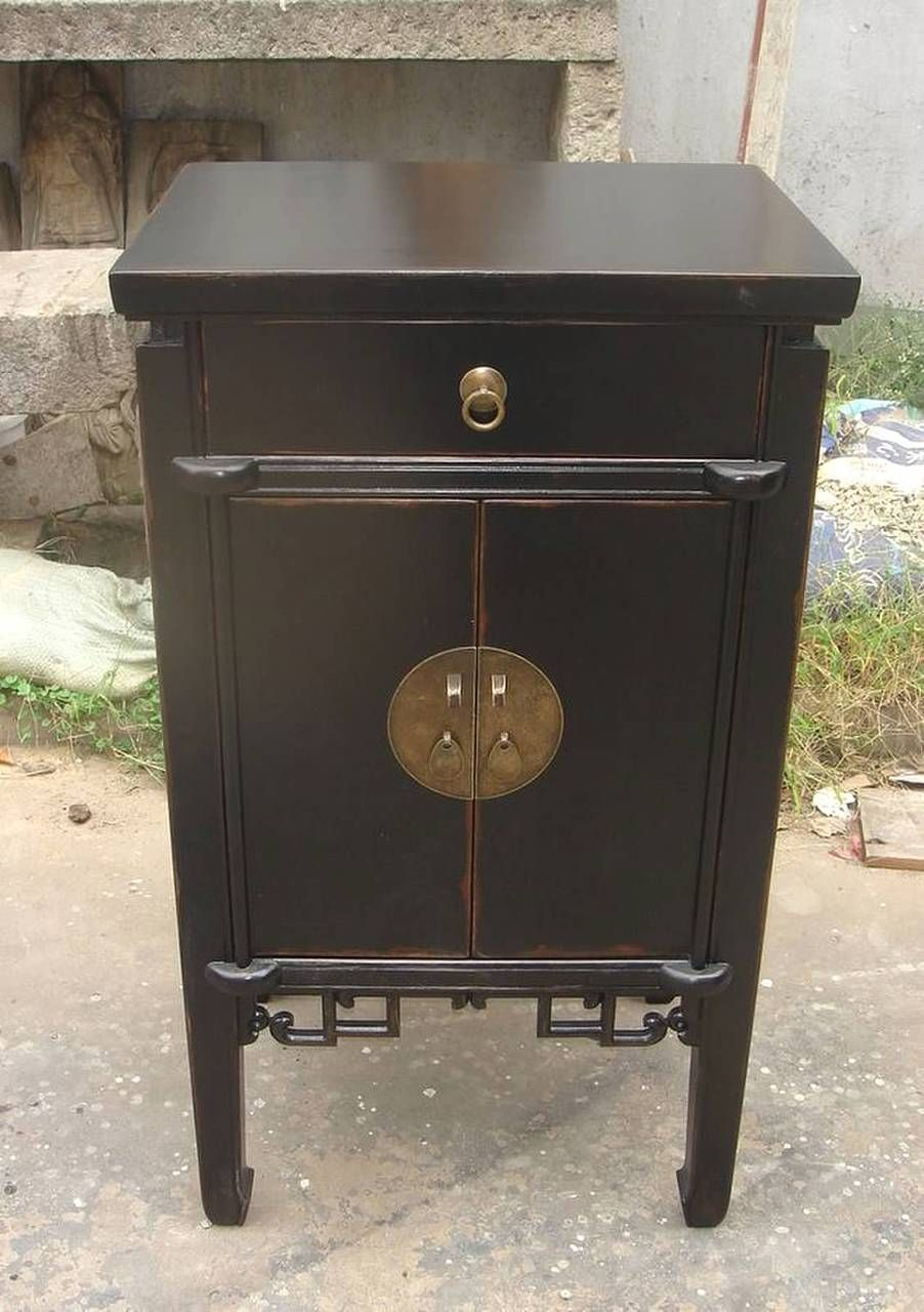 oriental end table antique black lacquer tables and furnishings into dog bar stools contemporary wood progress lighting archie collection tall shaped side best leather furniture