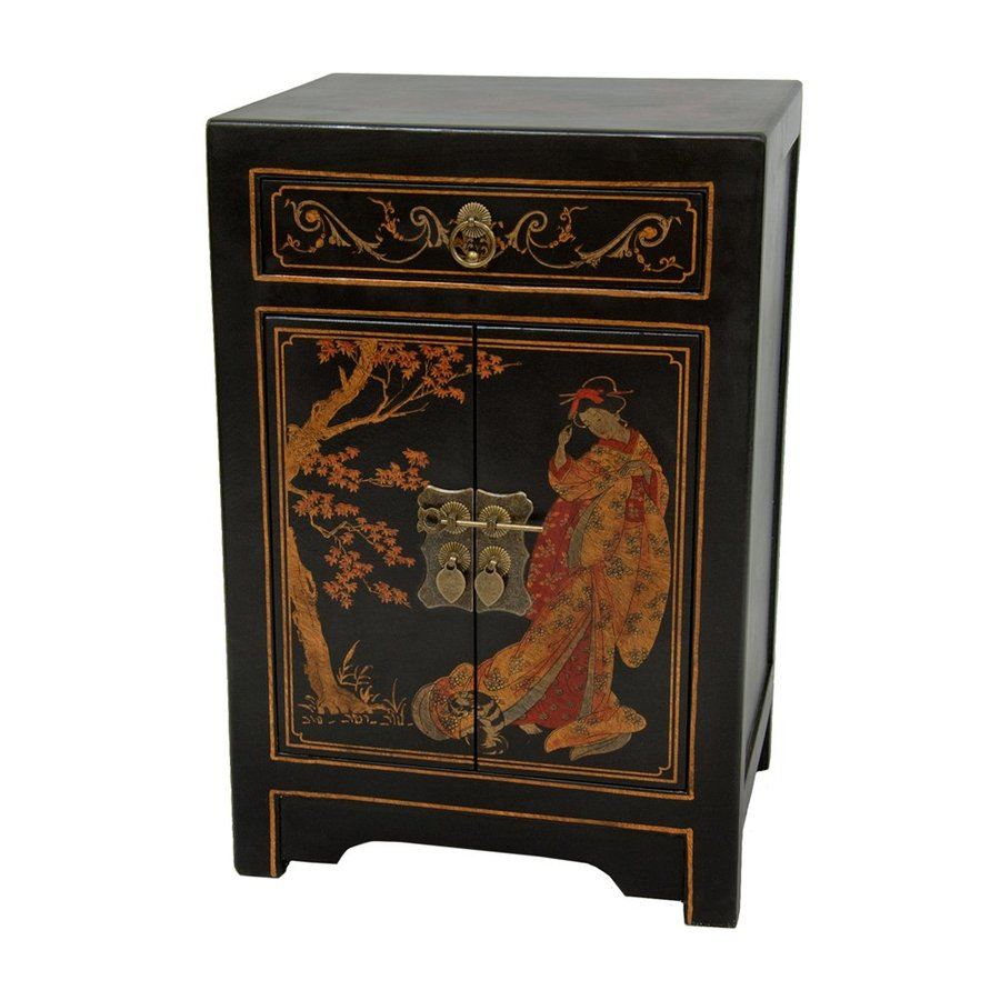oriental furniture black lacquer wood end table tables asian accent progress lighting archie collection best leather brands ashley slate dining pillows for modern bases glass tops