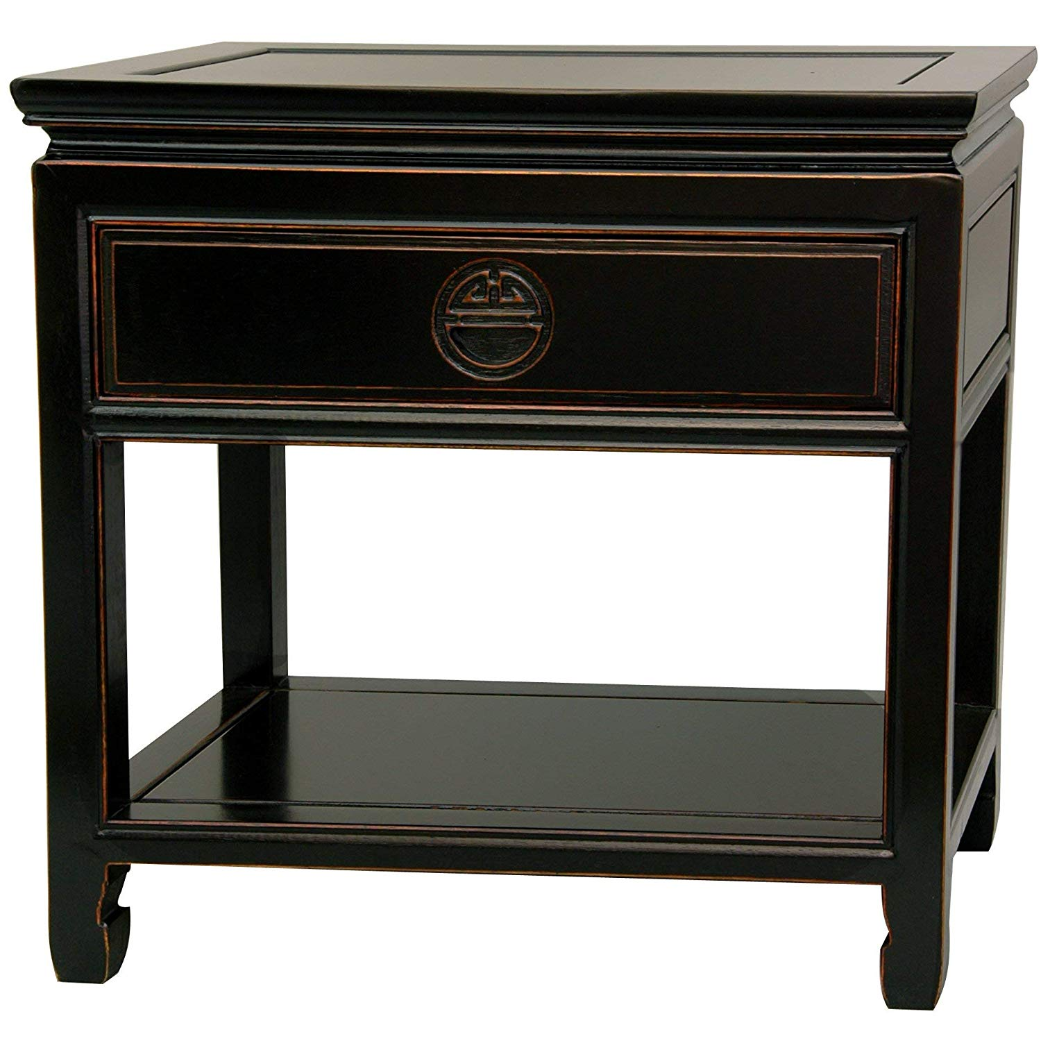 oriental furniture rosewood bedside table antique black end tables kitchen dining modern styling brown leather couch target shelf bookcase tall shaped side hampton house white