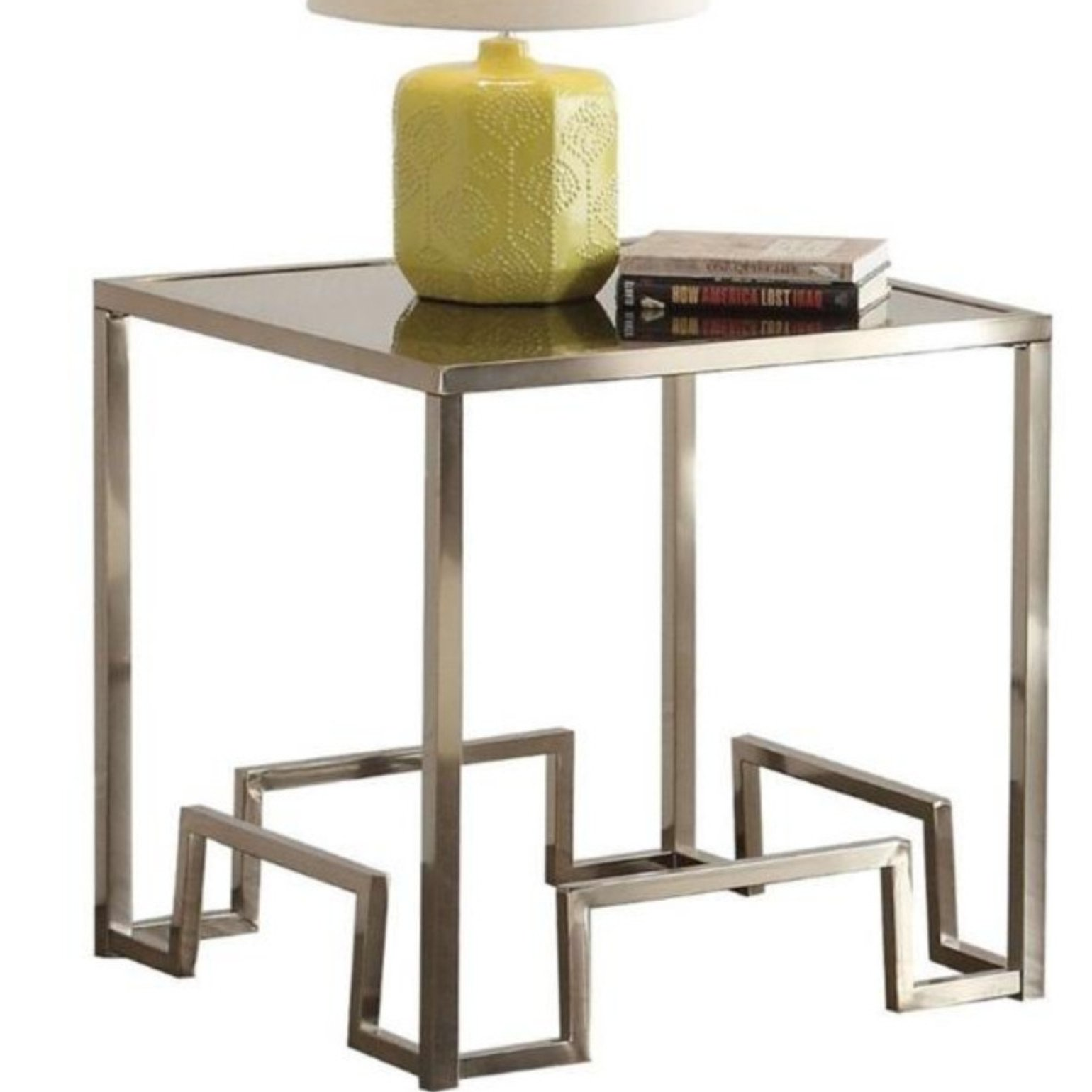 orren ellis shiver square glass end table cracked dining room small with lamp white bedside cupboard diy farmhouse what color area rug dark brown couch magazine rack side parsons