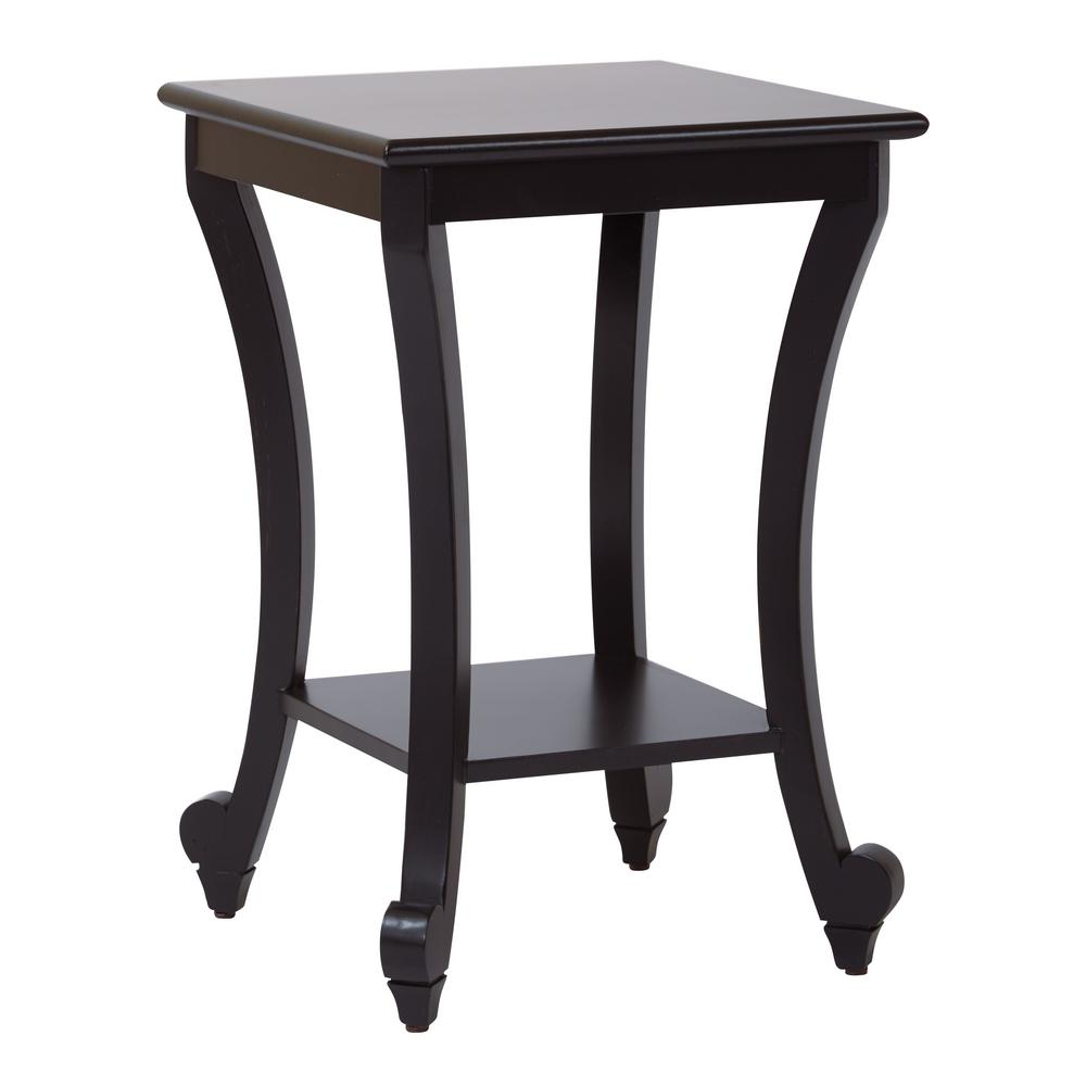 osp home furnishings daren antique black accent table finish end tables the ashley bedroom furniture kmart copper elephant bedside mansfield leather sofa slimline units lodge