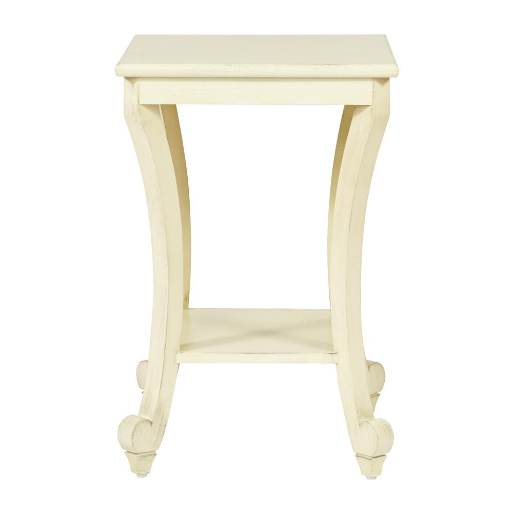 osp home furnishings daren antique white accent table finish end tables the shaker corner modern dining chairs hammary parsons coffee wall sconce with switch fixture ashley