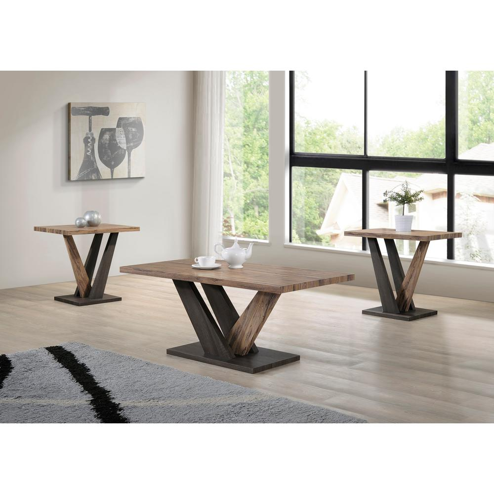 ott son carla dark gray brown oak coffee and end table set tables sets furniture living height lazy boy floor lamps unfinished wood children chairs aqua blue accent gas pipe