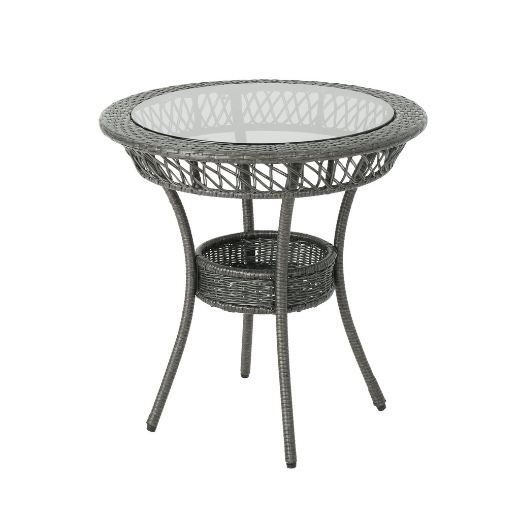 outdoor glass top gray wicker dining table noble white end house furniture small mission style replica bedroom bamboo lazy boy sofa round metal cappuccino nightstand ashley rustic