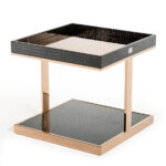 padua modern large black rosegold end table exclusive designs dsc modrest cottonwood ashley marion coffee whalen file cabinet furniture side nesting tables and white marble 150x150