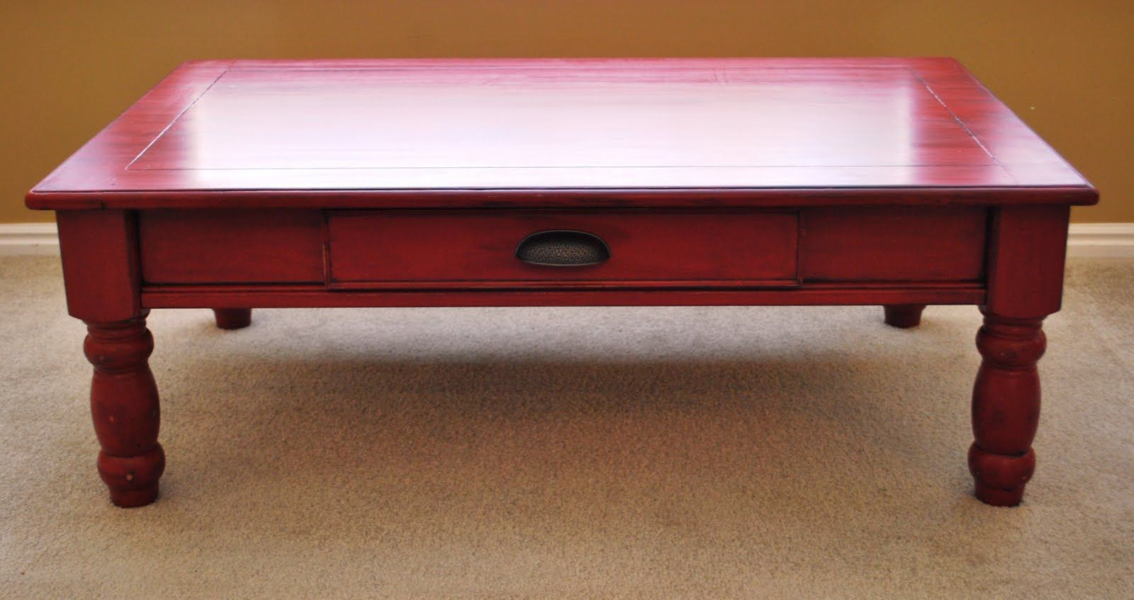 painted coffee table red used tables and end caldwell chalk paint mine gonna use this color old family hope chest round patio set laura ashley armchairs futon dryer furniture row