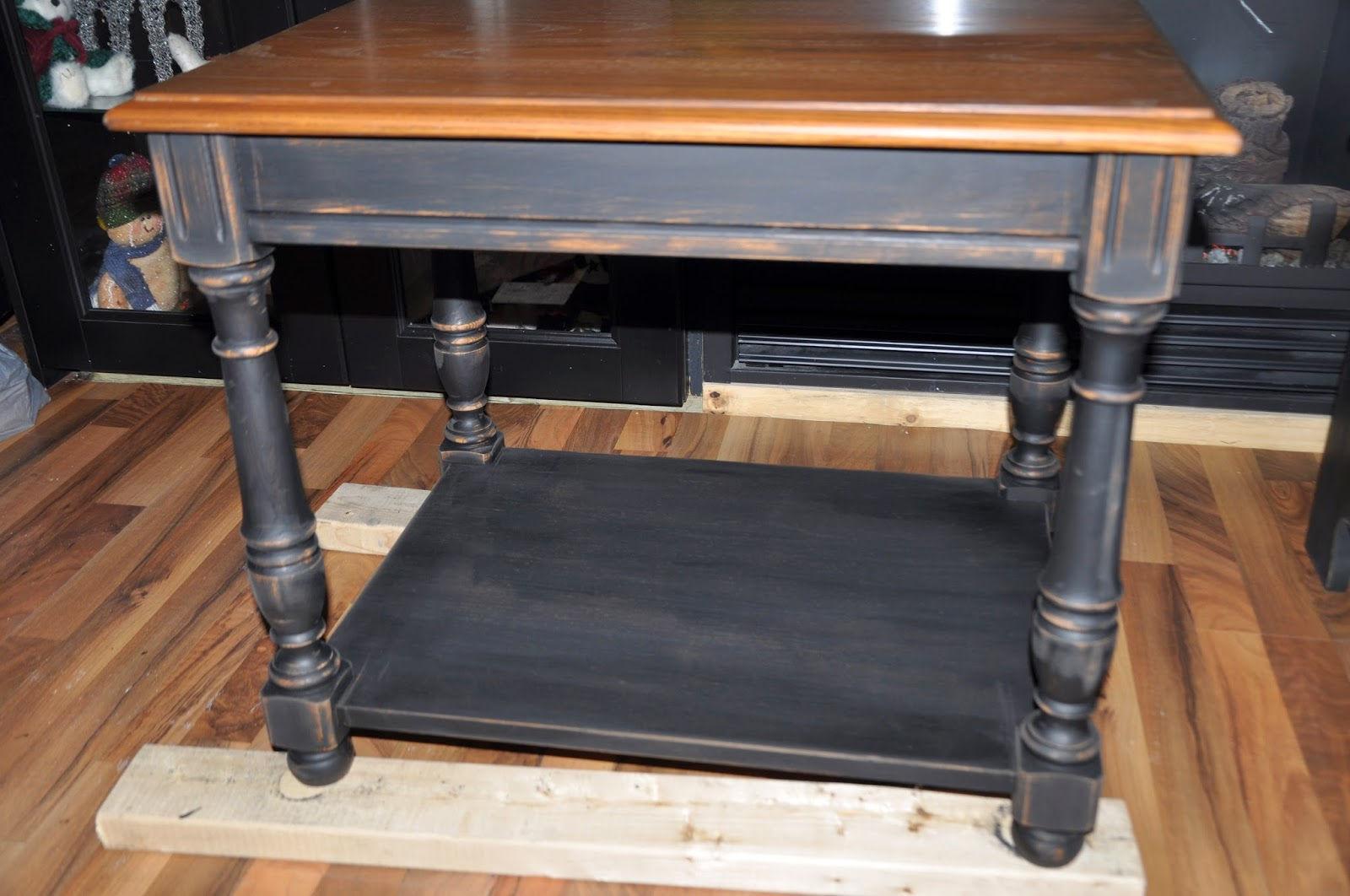 painting end tables black defendbigbird img painted and distressed alternatively yours long lamp shades for floor lamps what color throw pillows brown couch woodworking table