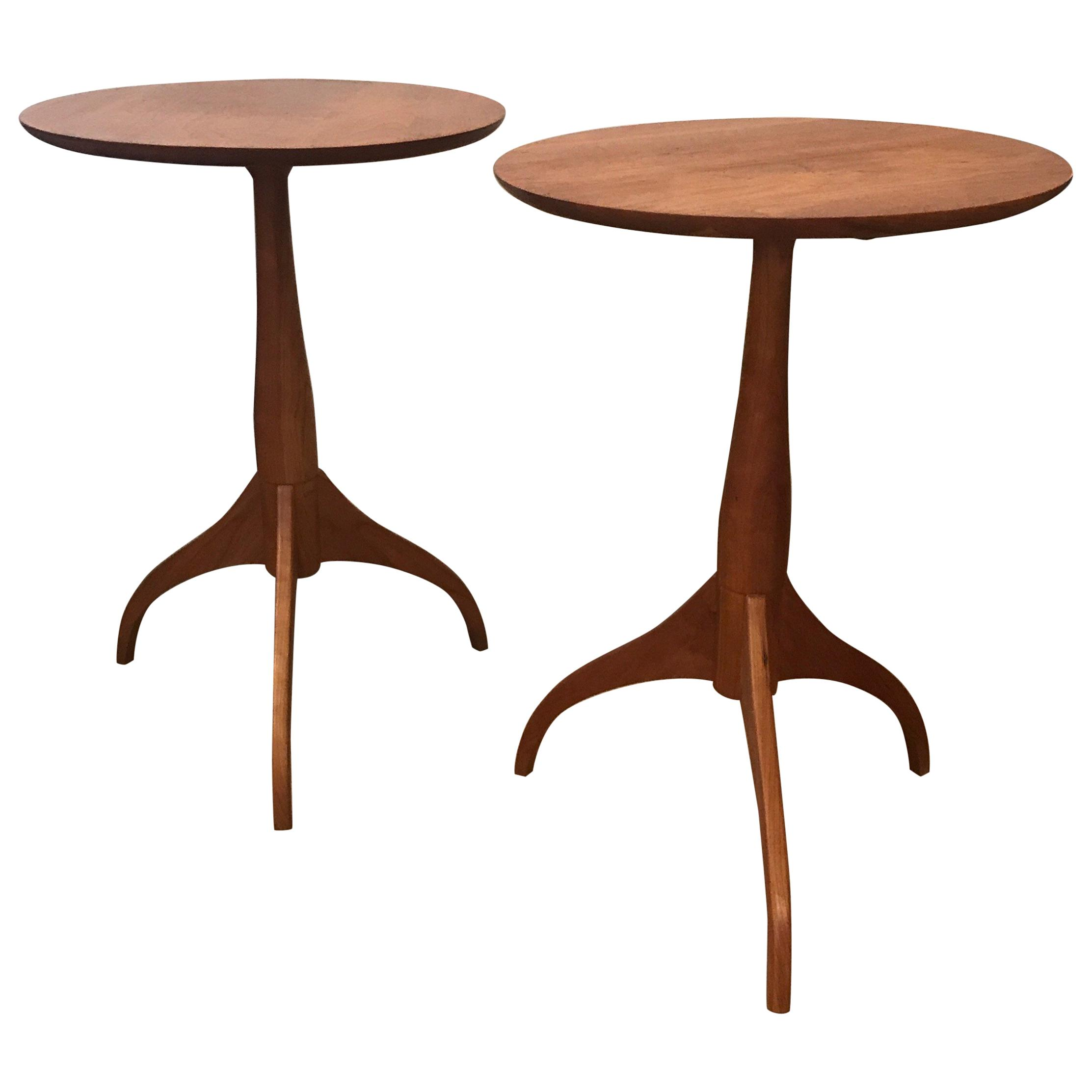 pair classic natural cherry shaker tables for master end table distressing black furniture with white high gloss side large coffee unusual garden dimensions closeout thomasville