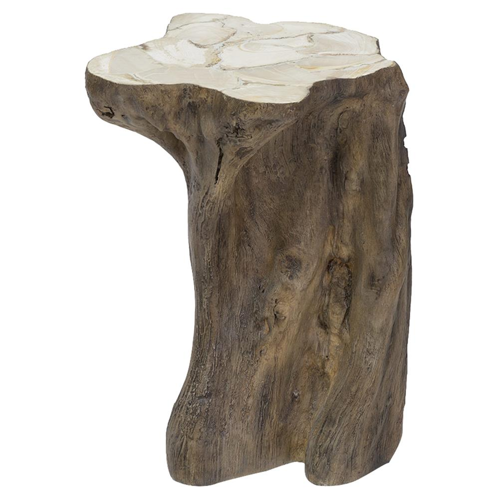 palecek chloe rustic fossilized natural tree trunk side end table product stump kathy kuo home kmart rugs decorating ideas using black leather furniture living room names coffee
